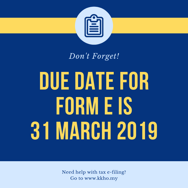 Form E 2018 What You Need To Know Kk Ho Co